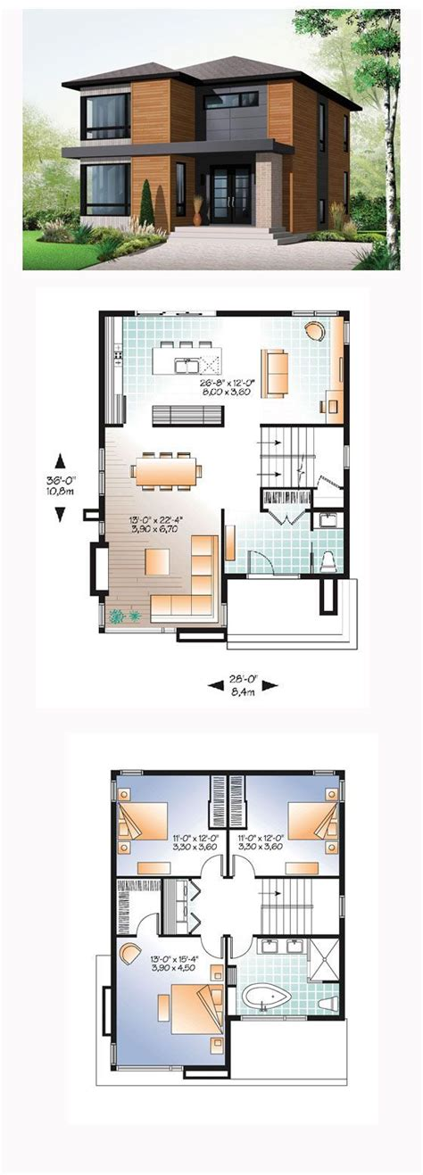 modern 3 bedroom house floor plans 25 best ideas about modern house plans on pinterest