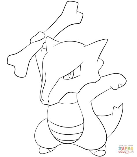 pokemon coloring pages of cubone marowak coloring page free printable coloring pages