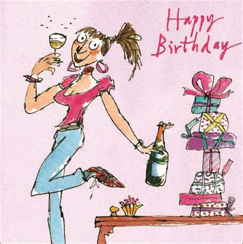quentin blake female happy birthday greeting card cards