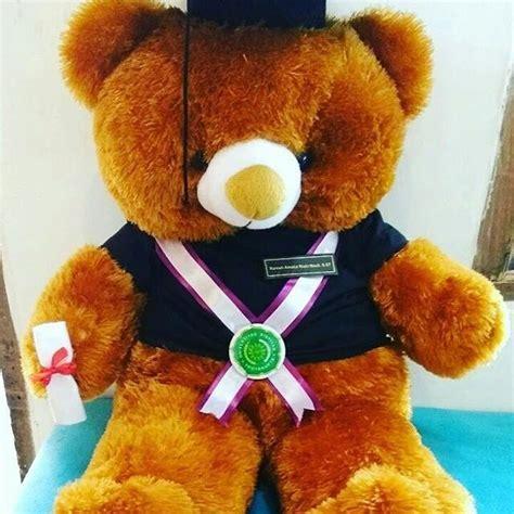 Boneka Wisuda Jumbo jual hadiah boneka teddy jumbo cokelat murah kado
