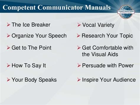Get Comfortable With Visual Aids by Toastmasters Education Program Communication Track