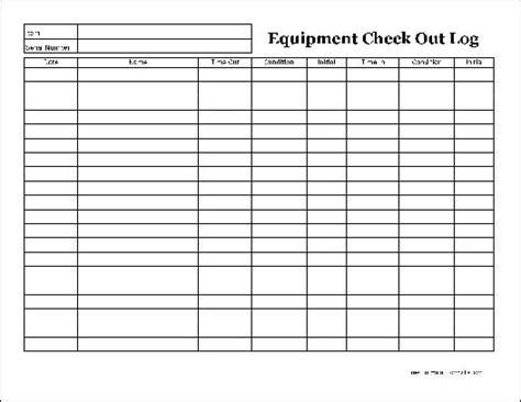 Best Photos Of Technology Check Out Form Equipment Check Out Log Template Equipment Check Out Inspection Log Template