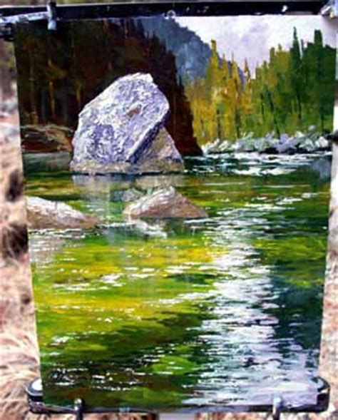 acrylic painting water techniques plein air acrylic painting