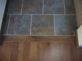 hardwood floor tile transition the gold smith