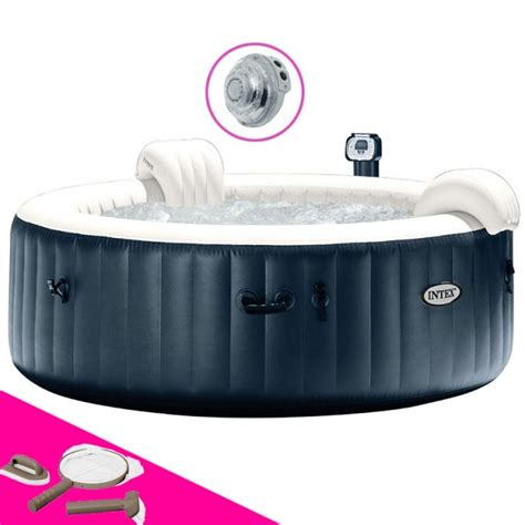Intex Spa 6 Places 6390 by Spa Intex Spa Bulles 6 Places Luxe Led Blue Navy