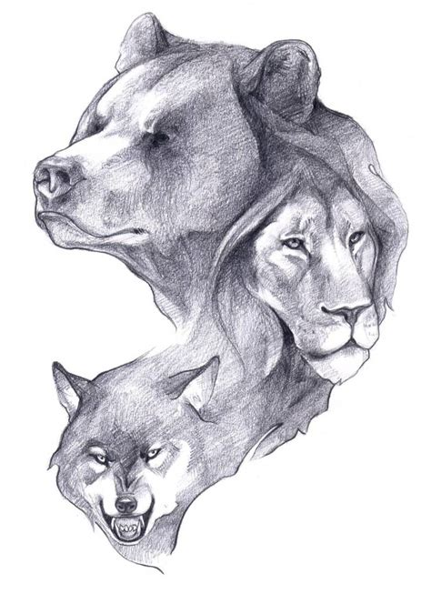 bear and wolf tattoo designs 24 designs
