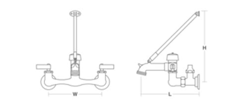 Faucet Cad by Kinlock Lever Handle Service Sink Faucet With Top