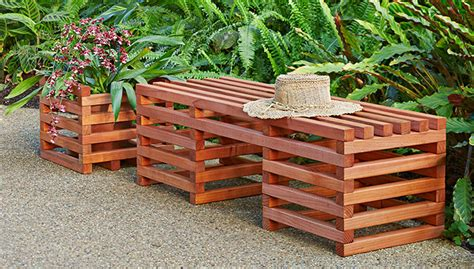 Outdoor Planter Bench by Box Crib Style Outdoor Bench And Planter