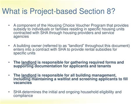 What Is Project Based Section 8 ppt a guide to project based section 8 powerpoint