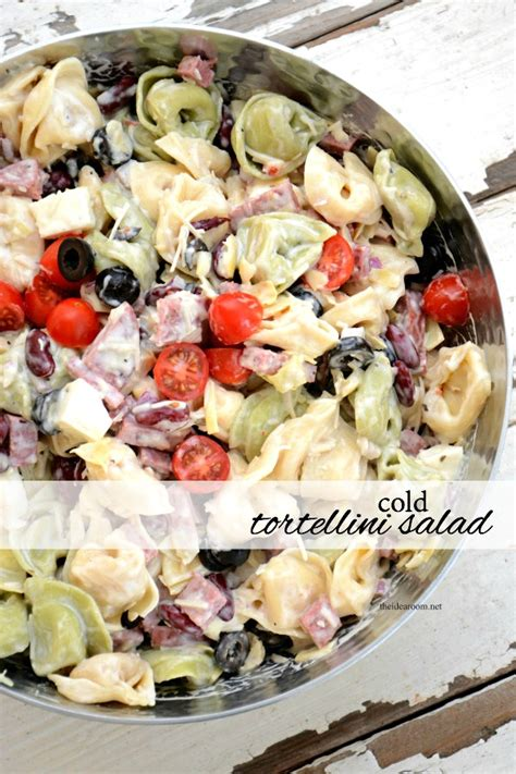 Cold Recipes | cold tortellini salad recipe the idea room