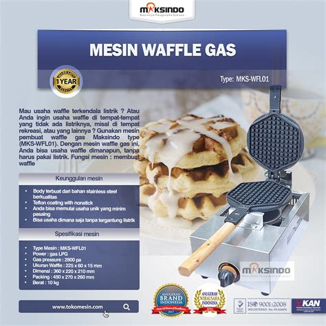 Mesin Waffle Gas mesin waffle gas wfl01 maksindo jakarta maksindo jakarta