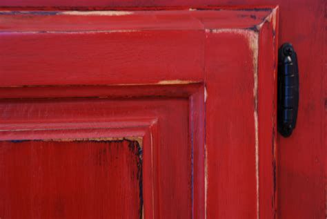 how to distress kitchen cabinets with chalk paint red chalk paint