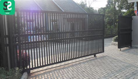 Kunci Pintu Dorong pintu pagar minimalis bengkel las depok