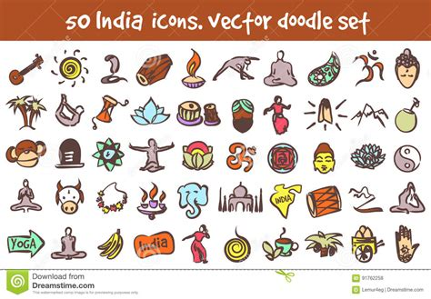 doodle india kuchipudi illustrations vector stock images