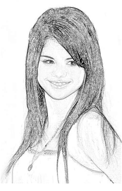 COLOREA TUS DIBUJOS: Selena Gomez para colorear y pintar