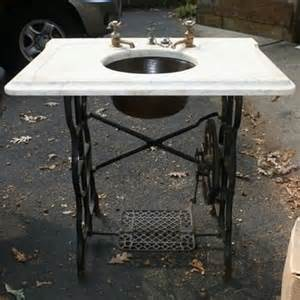 treadle sewing machine sink sewing machine sink stand recycled ideas recyclart