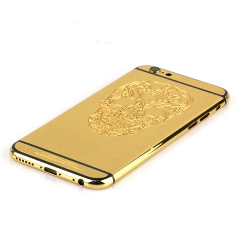 Housing Dan Buzzer Iphone 6s 24k brushed gold iphone 6s housing with skull design