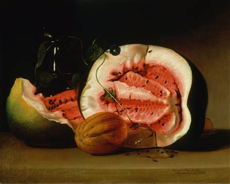 history of watermelon the evolution of the watermelon captured in still lifes