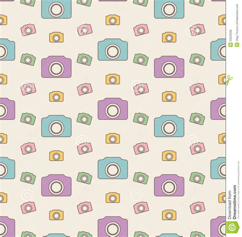 camera vector wallpaper seamless hipster background with cameras vintage pattern
