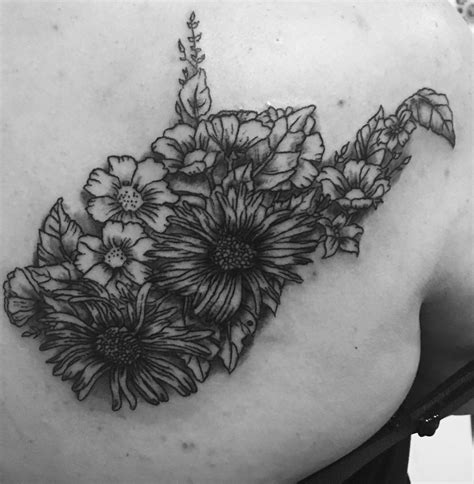 wv tattoos floral west virginia my artist drew this up for me from