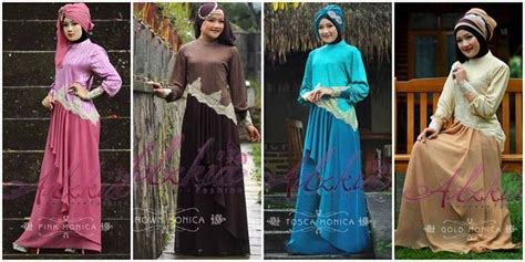 gaun muslimah modern dress pesta muslim adzkia