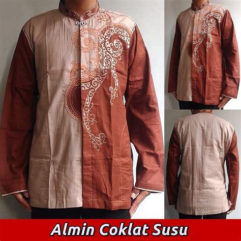 baju koko pria almin coklat shopee indonesia