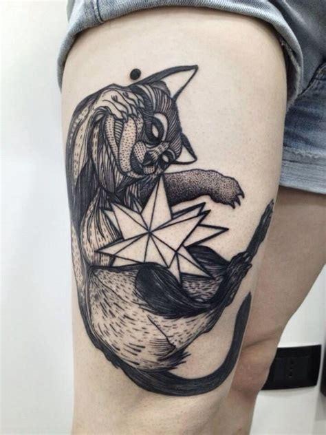 tattoo geometric girl 45 best raccoon tattoos