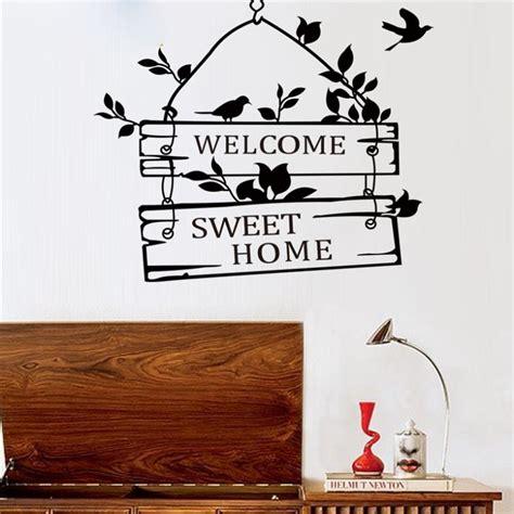 sticker wallpaper dinding welcome sweet home black jakartanotebook