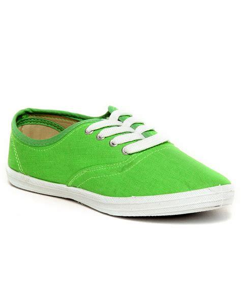slazenger pastella green canvas shoes price in india buy