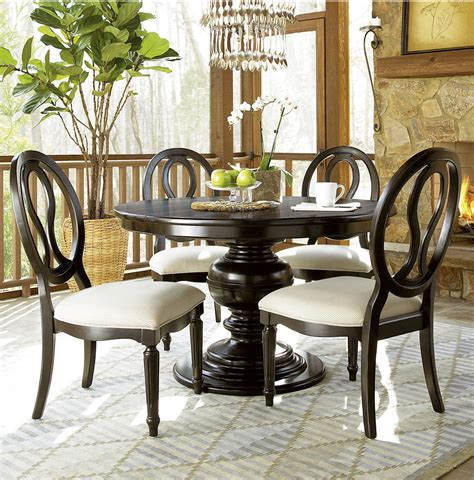 country chic black  piece  dining room set zin home
