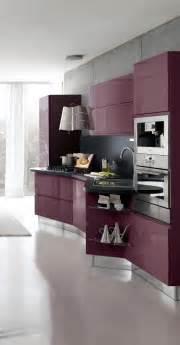 Purple Kitchen Design by Fashionable Modern Purple Kitchen Cabinets Design