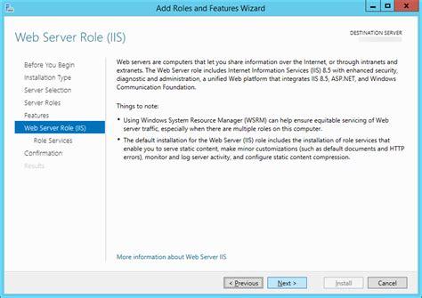 tutorial web server iis tutorial how to install iis on server 2012 and server