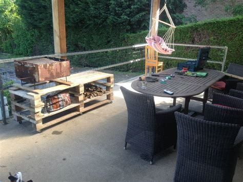 bbq table diy wooden pallet bbq grill table 101 pallets