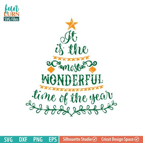 its the most wonderful time of the year svg funlurn svg