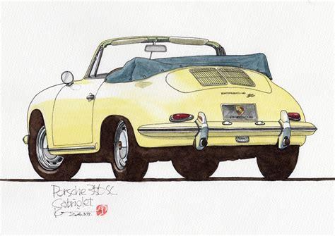 Porsche 356 Sc Cabrio by Porsche 356 Sc Cabriolet カーイラスト工房 Studio04