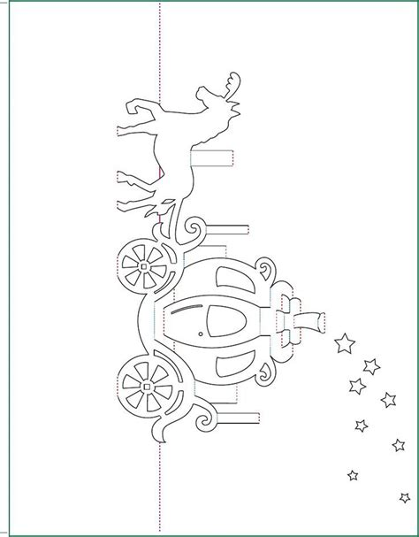 Cinderella Carriage Pop Up Card Free Paper Craft Template Download Mensagens P Pinterest Card Cut Out Template