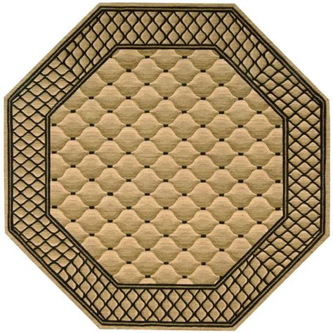 Octagon Outdoor Rug Nourison Vallencierre Beige 8 Ft Octagon Area Rug 622402 The Home Depot