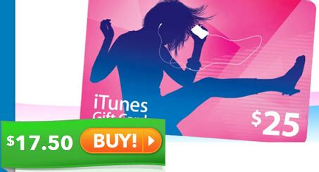 Where To Get Cheap Itunes Gift Cards - hurry grab 25 to itunes for 17 50