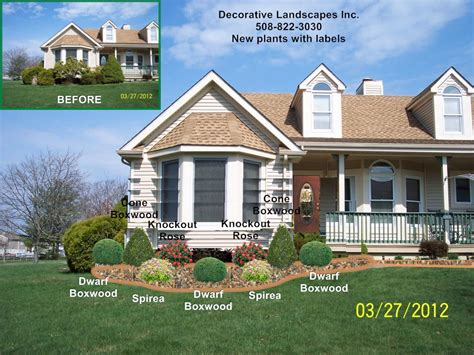 Landscape Architect Ma Front Yard Landscape Design Madecorative Landscapes Inc