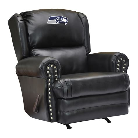 sports recliner nfl leather coach recliner pool tables r us
