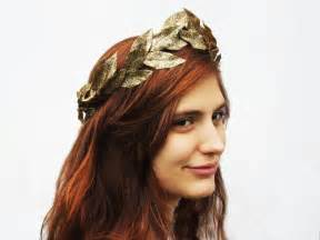 where to find a hair accessorie called a bump it for the crown of your head gold leaf tiara metallic gold greek goddess crown leaf