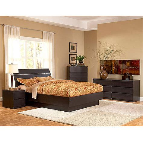 bed stands walmart laguna 4 piece queen bed night stand dresser and chest set lacquered espresso