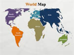 World Map Continent Outline by Interactive Powerpoint World Map Outline World Map Continents Powerpoint Template