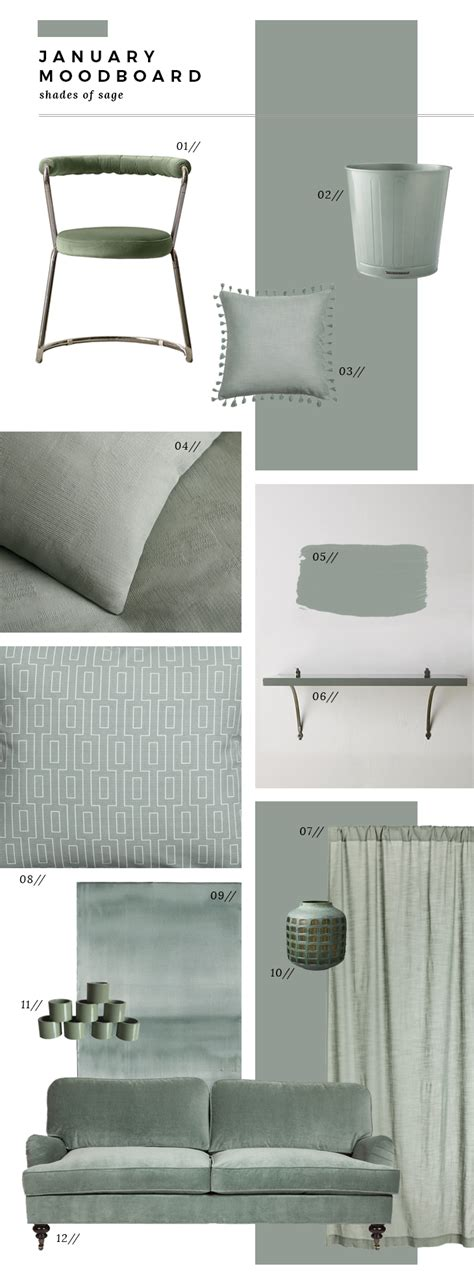 January Moodboard Sage Green Room For Tuesday | january moodboard sage green room for tuesday