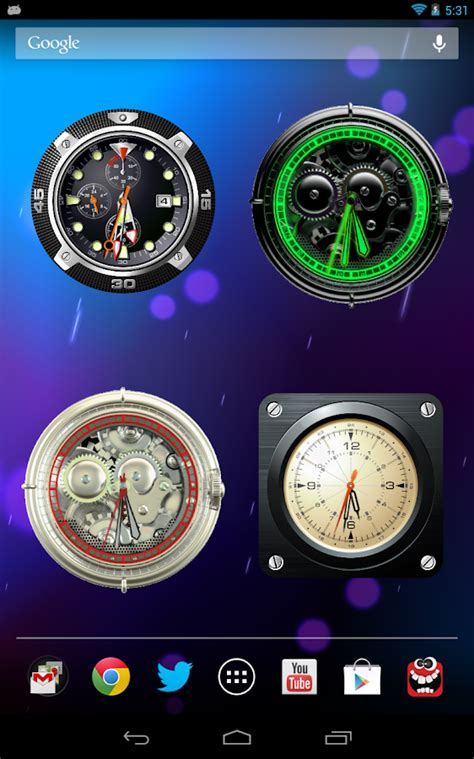 analog clock widgets for android analog clock wallpaper widget android apps on play