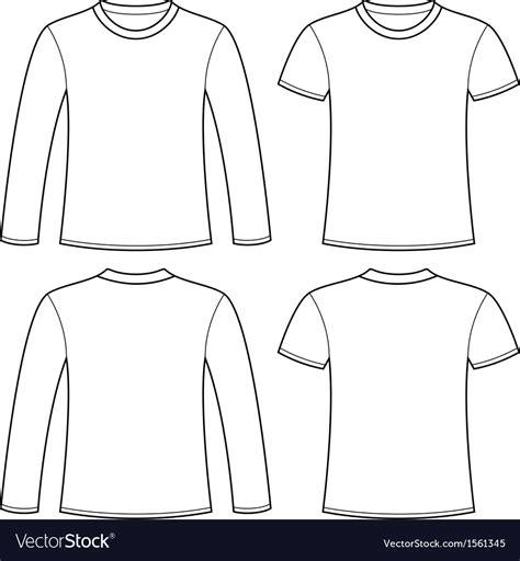 Long Sleeved T Shirt And T Shirt Template Vector Image Sleeve T Shirt Design Template