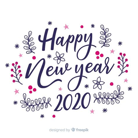 lettering happy  year   white background vector