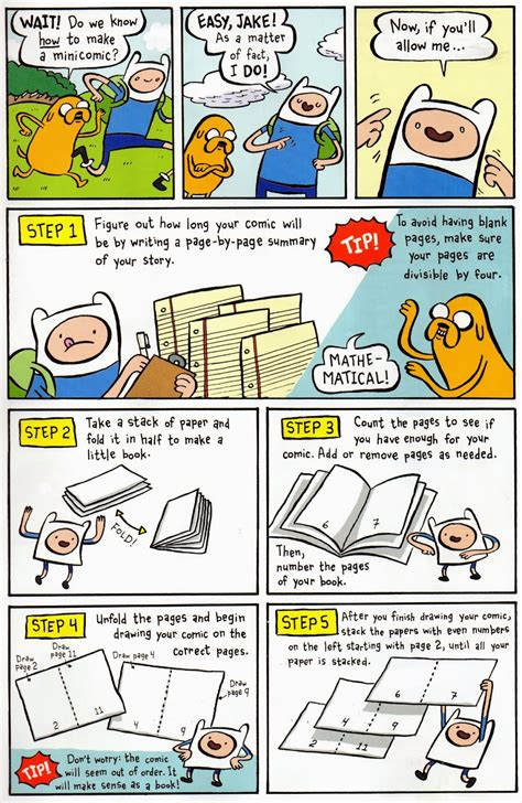 How To Make A Comic Book Out Of Paper - fred egg comics how to make comics the adventure time way