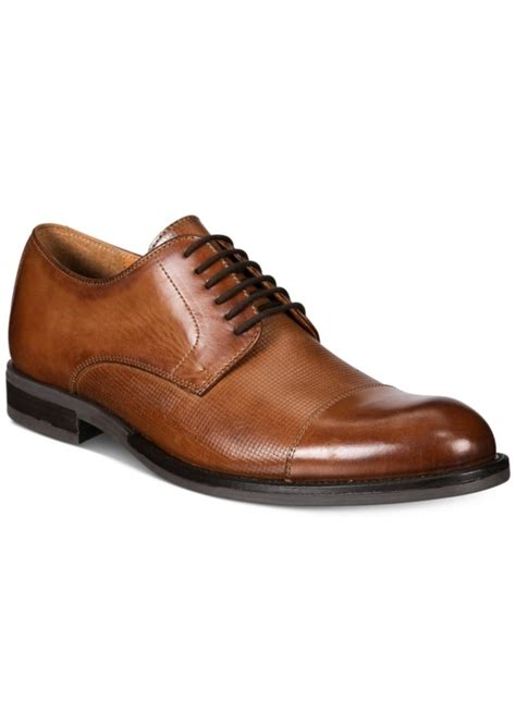 macy s oxford shoes alfani alfani s eric mixed texture cap toe oxfords