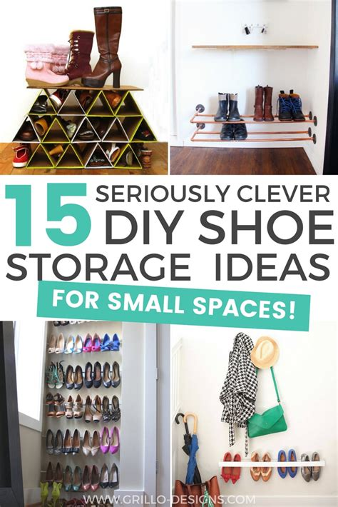 diy organization ideas for small spaces 15 clever diy shoe storage ideas grillo designs